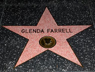 Glenda Farrell's star on the Hollywood Walk of Fame.