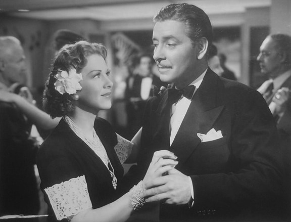 Glenda Farrell and Ronald Colman in The Talk of the Town