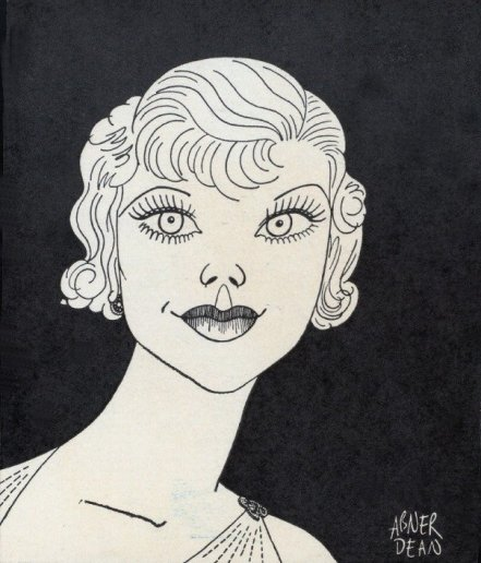 A caricature of Glenda Farrell by Abner Dean.