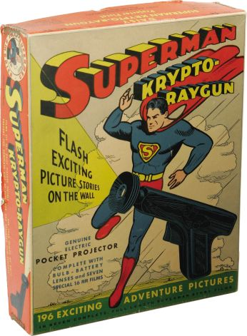 Superman Krypto-Raygun Projector Pistol With Box (Daisy, 1940) - 1