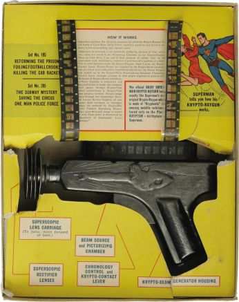 Superman Krypto-Raygun Projector Pistol With Box (Daisy, 1940) - 2