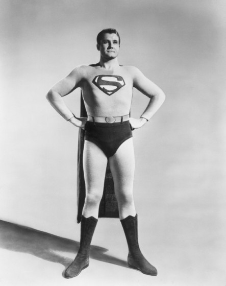 George Reeves as Superman.