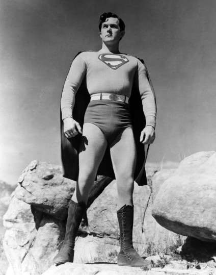 Kirk Alyn as Superman.